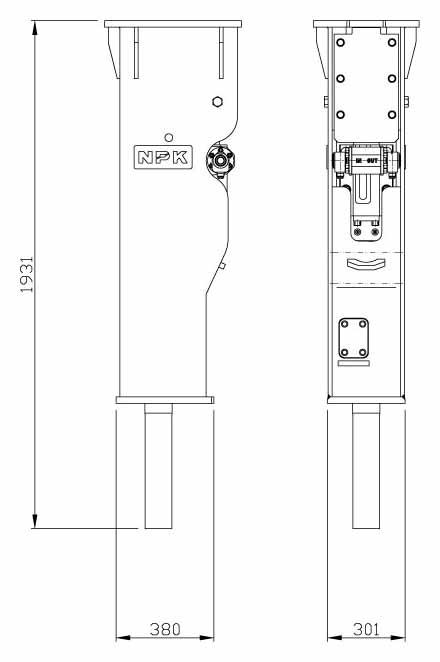 Hydraulic Hammer GH-6 Enviro